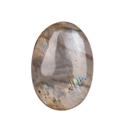 Real Gems Natural Labradorite Oval Cabochon Gemstone, Perfect for Pendant Jewelry, Oval Shape 30.00 Ct Certified Labradorite