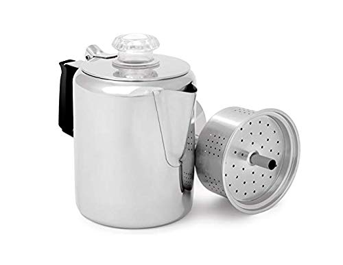 GSI Glacier Stainless Coffee Perk Cup, 3-Cup