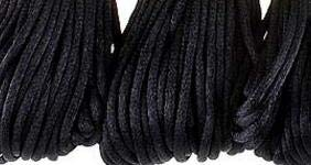 CordNecklace Soft Satin Rattail Silk Cord Nylon for DIY Bracelet Necklace Jewelry Findings Accessories 2mm