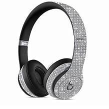 Wireless Studio Beats by Dre Custom Headphones Silver Swarovski Crystals