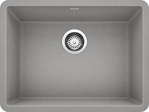 Blanco 522413 Precis 24 Single Bowl-Metallic Gray Sink, 23.44 L X 17.75 W for 27 Cabinet