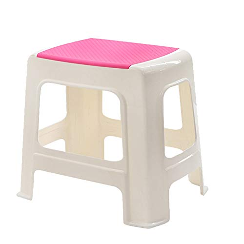 - Footstool Footrest Step Stool Chair Bathroom Plastic Stool Home Adult Living Room HUYP (Color : Pink)