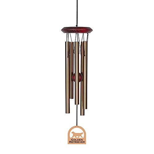 Golden Chimes - Chimes of Your Life 638845880121 Golden Retriever E4471-14 Dog Wind Chime, Bronze