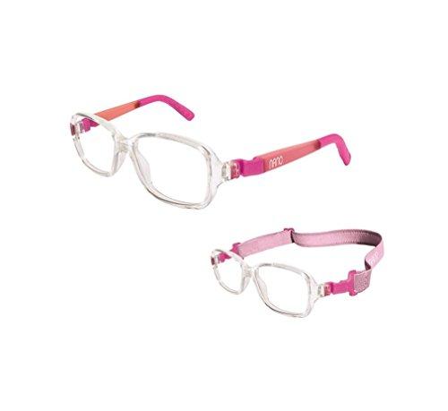Nano Vista NAO50002 Re-Play Glow Siliflex Children's Eyeglasses Cristal-Rosa Glow - Ray Band Eyeglasses