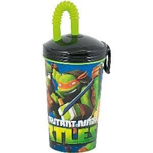 Las tortugas de Ninja taza plástica con paja: Amazon.es ...