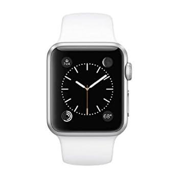 Apple Watch WiFi 38mm Aluminum Case - White Sport Band (Certified Refurbished)