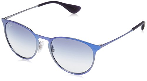 Ray-Ban Metal Unisex Sunglass Round, Shot Blue, 54mm