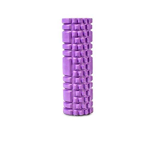 ZZKJNIU Muscle Relaxation Foam Shaft Compact Massager Skinny Legs Keep Yoga Column Roller Ball Deep Release Fatigue 30CM,Purple