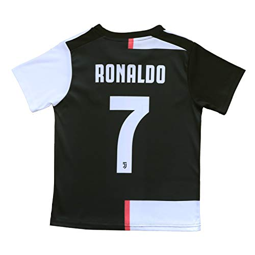 buy online 8d9bd e87c1 FCRM 2018/2019 New #7 Cristiano Ronaldo Kids Home Soccer Jersey & Shorts  Youth Sizes (New (Juve), 2-3 Years Old)