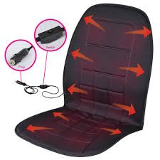 BDK Travel Warmer - Heated Seat Cushion 12-Volt Padded Thermal Release for Car SUV Van Truck & Office Chair