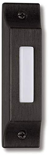 (Craftmade BSCB-AZ Die-Cast Builder's Surface Mount Lighted Doorbell LED Push Button, Antique Bronze (3.75
