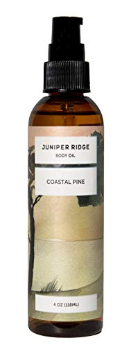 (Juniper Ridge Body Oil | Scented Massage Oil & Skin Care | Plant Based & Sustainably Harvested | Paraben, Preservate, Dye & Cruelty Free | 4 oz | Coastal Pine )