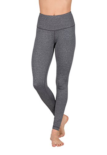 248772d118745a Galleon - 90 Degree By Reflex High Waist Power Flex Legging – Tummy Control  - Heather Grey - Small