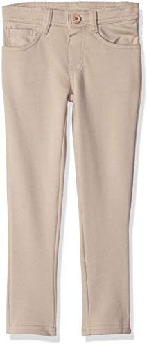 Girls Pant Knit - U.S. Polo Assn. Girls' Big Pull-On Ponte Knit Skinny Fit Pant, Khaki 14