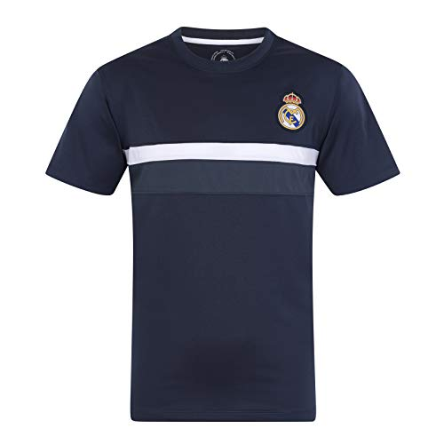 Real Madrid FC Official Soccer Gift Mens Poly Training Kit T-Shirt