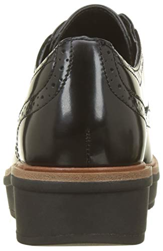 Black Teadale Negro Leather Mujer Zapatos Maira Brogue para Cordones de Clarks zadw4z