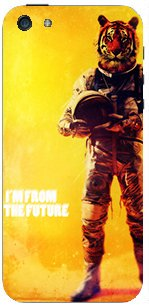 COQUE PROTECTION TELEPHONE Iphone 5 ET 5S - LION COSMONAUTE