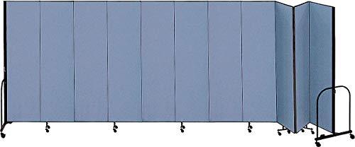 (Screenflex 20 ft. 5 in. x 5 ft., 11-Panel Portable Room Divider, Blue - CFSL5011 BLUE)