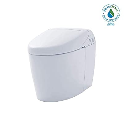 TOTO MS988CUMFG#01 NEOREST RH Dual Flush 1.0 or 0.8 GPF Toilet with Intergeated Bidet Seat and EWATER White-MS988CUMFG