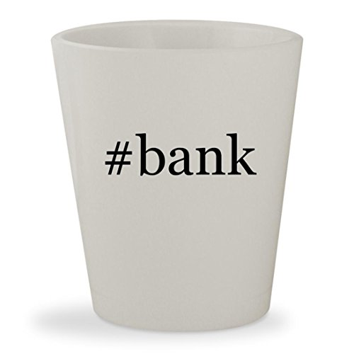 Bank   White Hashtag Ceramic 1 5Oz Shot Glass