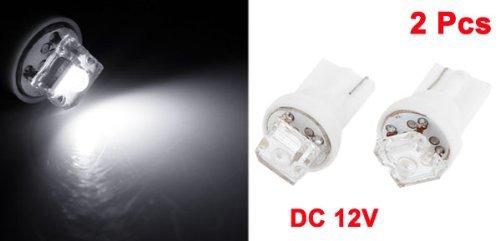 Amazon.com: eDealMax 2pcs del bulbo Blanco T10 1 LED indicador del tablero de instrumentos Luz DC 12V Para auto: Automotive
