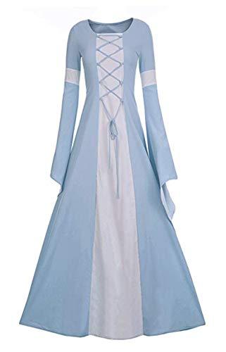 Shele Women Medieval Dress Renaissance Retro Gothic Cosplay Queen Costume for Fantasy Halloween