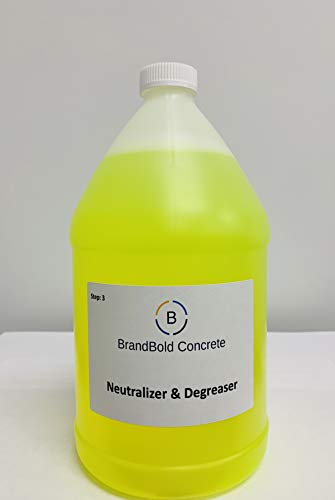 BrandBold Brilliance Concrete Acid Stain Neutralizer and Degreaser - Step 3 (Cement Floor Stain Acid)