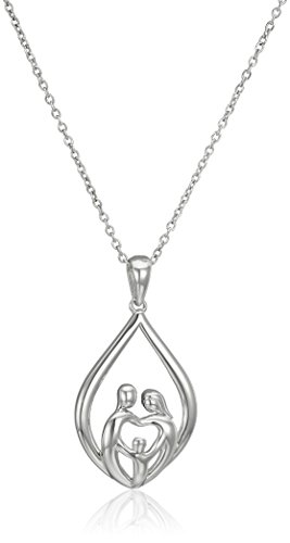 Sterling Silver Family Pendant Necklace product image