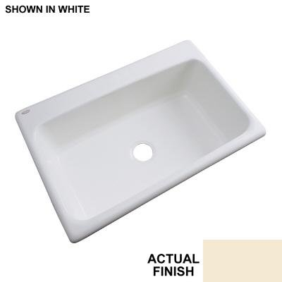 Thermocast Manhattan 33 In. x 22 In. Cast Acrylic Undermount Single Bowl Kitchen Sink, Desert Bloom - Manhattan Undermount Acrylic