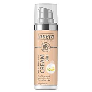 lavera 3en1 Tinted Moisturising Cream Q10 -Ivory Nude 02- Crème hydratante teintée ∙ Vegan Cosmétiques naturels Make up Ingrédients végétaux bio 100% Naturel Maquillage (30 ml)