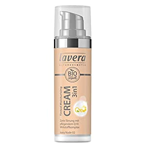 lavera 3en1 Tinted Moisturising Cream Q10 -Ivory Nude 02- Crème hydratante teintée ∙ Vegan Cosmétiques naturels Make up…