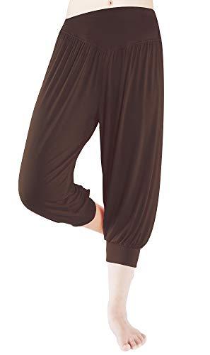 fitglam Women's Harem Capri Pants Comfy Cropped Yoga Jogger Workout Lounge -