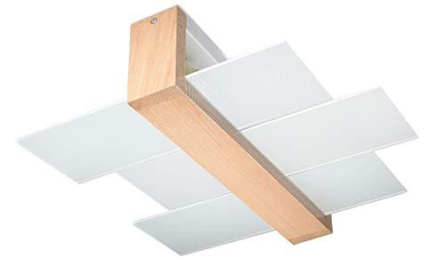 Plafoniera Quadrata Led Soffitto : NovitÀ plafoniera legno naturale per salotto e corridoio vetro
