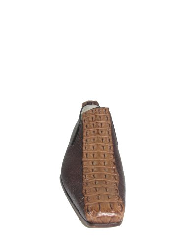Zapatos Slip-on Elegantes Para Hombres, Cuero Arrugado Especial, 981 Bronceado Del Diseñador Italiano Carlos Ventura Brown