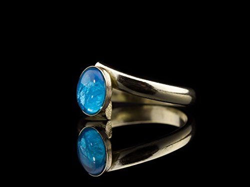 Crossover Jewel (POWERFUL BLUE | Solid Gold crossover ring with Apatite)