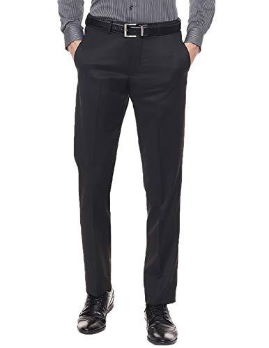 American-Elm Slim Fit Black Formal Trouser for Men  Black Formal Pants for Men