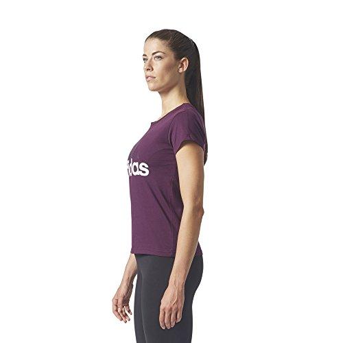 Donna Bianco Li adidas Ess SLI Rosso Tee Maglietta Rojnoc wXxq81x
