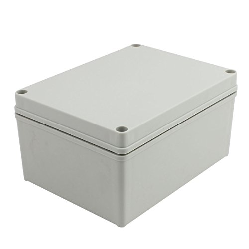 YXQ 200 x 150 x 100mm Electrical Project Junction Box IP65 Waterproof DIY ABS Power Electronic Outdoor Case Enclosure Gray (7.9 x 5.9 x 4 inches)