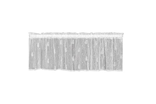 Heritage Lace Pineapple Valance, 45 by 15-Inch, White (Heritage Lace Pineapple)