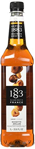 Maison Routin 1883 Premium Syrup Flavorings - Roasted Hazelnut - Purly Made in France - Pet Bottle - 1 Liter ()