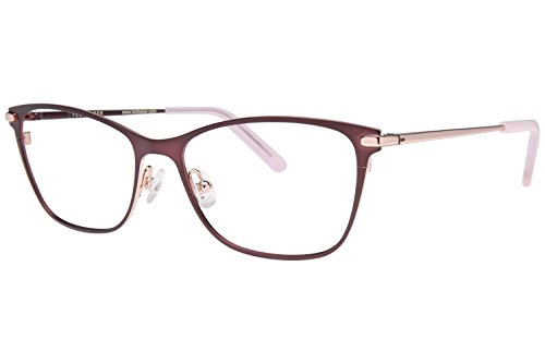 Eyeglasses Frame Rose - Ted Baker B239 Womens Eyeglass Frames - Brown/Rose Gold