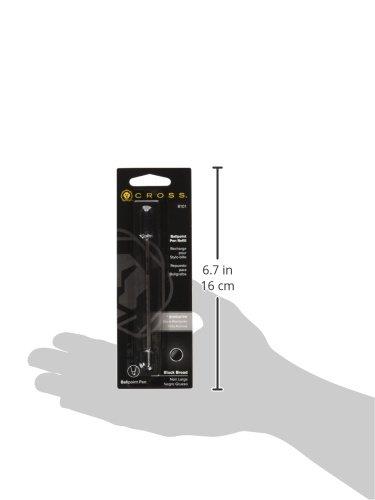 Pack de 3 recambios de bol/ígrafo color negro tama/ño medio Cross 8572-1