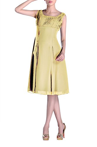 Special Knee Brides of Pleated Mother Occasion Formal Dress the Bridesmaid Daffodil Length qOw1zq5