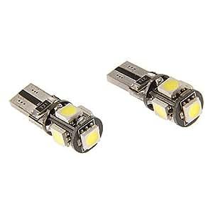 GD T10 3W 5x5060SMD 230LM 5500-6500K refrescan la lámpara LED de luz blanca para coche (12V)