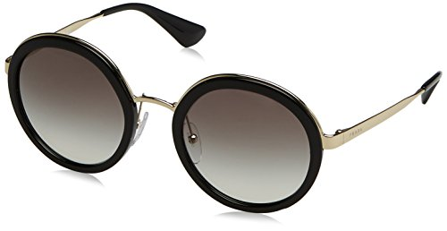 Prada Women's Round Sunglasses, Black/Grey, One - Prada Ladies Sunglasses