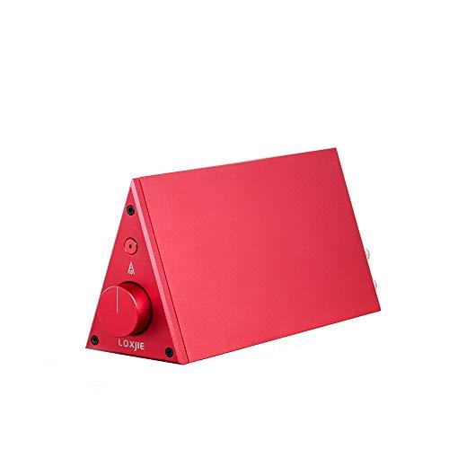 LOXJIE A10 Desktop Stereo Power Amplifier Digital Class-D High-Power Audiophile Level Amp Chip TPA3116 (Red) ()