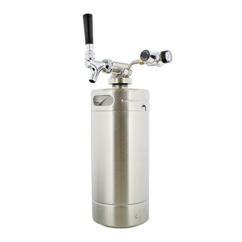 G Francis Keg with Keg Regulator and Beer Dispenser, 128 oz – Portable Keg Draft Beer Dispenser, Portable Beer ()