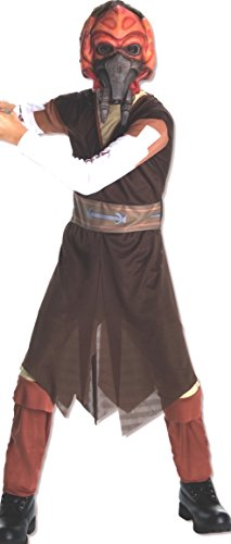 Rubie's Star Wars Clone Wars Child's Plo Koon Costume and Mask, Medium -