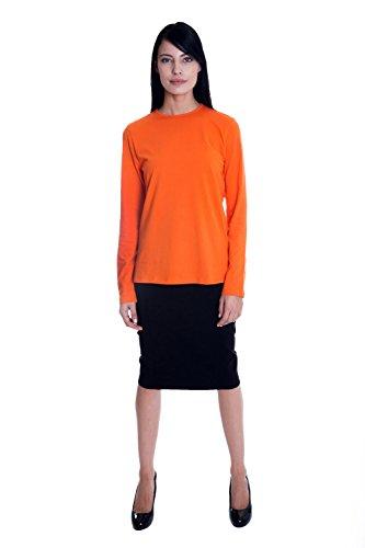 (Esteez Long Sleeve Layering T-Shirt for Women Snug Fit Pumpkin XX-Large)