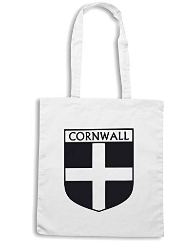 FUN1039 CORNWALL FLAG Borsa CREST 85294 Shopper Bianca Zq6nwnE1